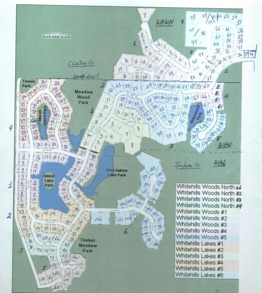 Whitehills Lakes Map